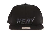 Miami Heat Black Foil - Mitchell & Ness Snapback