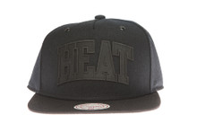 Miami Heat Black Cement - Mitchell & Ness Snapback