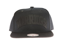 Golden State Warriors Black Cement - Mitchell & Ness Snapback