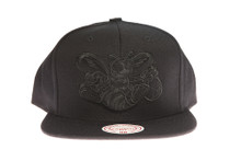 Charlotte Hornets Black Out - Mitchell & Ness Snapback Hat