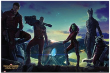 Guardians of the Galaxy Group Landscape Blockmount Wall Hanger