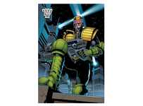 Judge Dred 2000AD Blockmount Wall Hanger