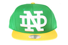 Notre Dame Fighting Irish XL Logo Mitchell & Ness Snapback Hat