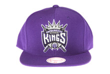 Sacramento Kings Solid Purple Mitchell & Ness Snapback Hat