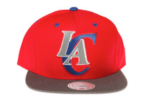 Los Angeles Clippers 3M Reflective Underbrim and Logo Mitchell & Ness Red Snapback Hat