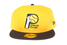 Indiana Pacers Logo 2Tone Yellow and Navy Blue New Era 59FIFTY Fitted Cap