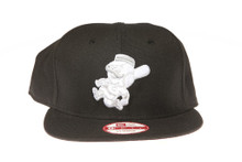 Cincinnati Reds White Logo Black New Era Snapback Hat