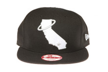 California Angels White Logo Black New Era Snapback Hat