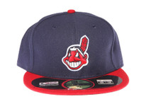 Cleveland Indians 2Tone Logo Blue New Era 59FIFTY Fitted Cap