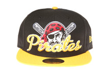 Pittsburgh Pirates Pirate Logo Script New Era 59FIFTY Fitted Cap