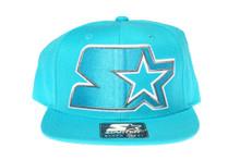 Starter Teal Logo - Starter Snapback Hat