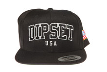 DIPSET Officially Licensed Dipset Arch Black Snapback Hat