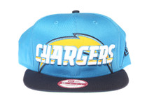 San Diego Chargers Logo Script 2Tone Blue New Era Snapback Hat