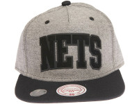 Brooklyn Nets Reverse Denim Arch Mitchell & Ness Snapback Hat