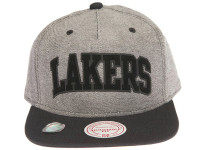 Los Angeles Lakers Reverse Denim Arch Mitchell & Ness Snapback Hat