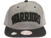 Golden State Warriors Reverse Denim Arch Mitchell & Ness Snapback Hat