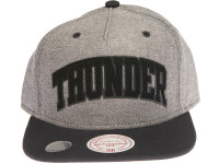 Oklahoma City Thunder Reverse Denim Arch Mitchell & Ness Snapback Hat
