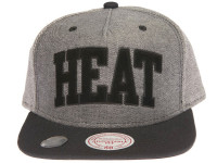 Miami Heat Reverse Denim Arch Mitchell & Ness Snapback Hat