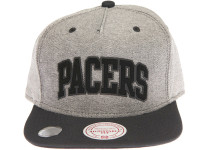 Indiana Pacers Denim Arch Mitchell & Ness Snapback Hat