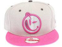New Era x YUMS Pink Logo Grey and Pink Snapback Hat