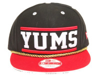 New Era x YUMS Boombox Black and Red Snapback Hat