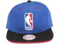 NBA Logo Contrast Sandwich Brim Mitchell & Ness Black Snapback Hat