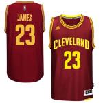 Cleveland Cavaliers LeBron James Garnet Road 2014-15 Adidas Swingman Jersey