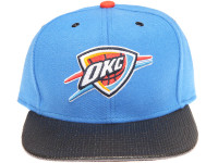 Oklahoma City Thunder Carbon Fiber Brim Mitchell & Ness Light Blue Snapback Hat