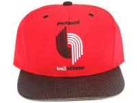 Portland Trail Blazers Carbon Fiber Brim Mitchell & Ness Red Snapback Hat