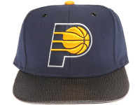 Indiana Pacers Carbon Fiber Brim Mitchell & Ness Blue Snapback Hat
