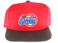 Los Angeles Clippers Reflective Logo / Underbrim Leather Brim Mitchell & Ness Red 5 Panel Snapback Hat