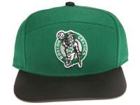 Boston Celtics Reflective Logo / Underbrim Leather Brim Mitchell & Ness Green 5-Panel Snapback Hat