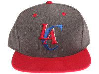 Los Angeles Clippers Logo Mitchell & Ness Dark Tones Grey Snapback Hat