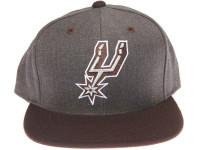San Antonio Spurs Logo Mitchell & Ness Dark Tones Grey Snapback Hat
