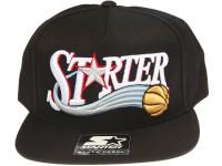 Starter Basketball Script Black STARTER Snapback Hat