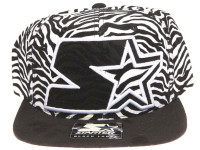 Starter XL Logo Zebra Patern STARTER Black and White Snapback Hat