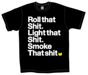 Wu Tang Roll That Light That Smoke That Black T-Shirt