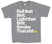 Wu Tang Roll That Light That Smoke That Grey T-Shirt