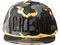 Wu Tang Clan CREAM Black and Yellow Camo Wu-Tang Brand Snapback Hat