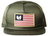 Wu Tang Iron Flag Desert Camo Underbrim Olive Nylon Snapback Hat