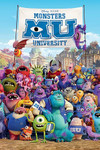 Monsters University Blockmount Wall Hanger Picture