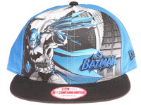 Batman Cape New Era Cartoon Blue Snapback Hat