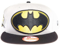 Batman Logo New Era Cartoon Grey Snapback Hat
