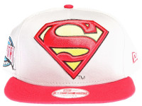 Superman Logo New Era Cartoon Grey Snapback Hat