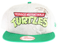 Teenage Mutant Ninja Turtles Shell Logo New Era Cartoon Grey Snapback Hat