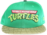 Teenage Mutant Ninja Turtles TMNT Logo New Era Cartoon Green Strapback Hat