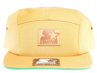 Starter Tan Brown 5 Panel - Starter Strapback Hat