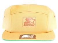 Starter Tan Brown 5 Panel - Starter Strapback Hat