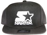 Starter White Classic Star Logo STARTER Black Snapback Hat
