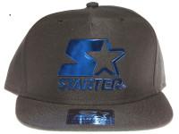 Starter Blue Metal Logo STARTER Black Snapback Hat